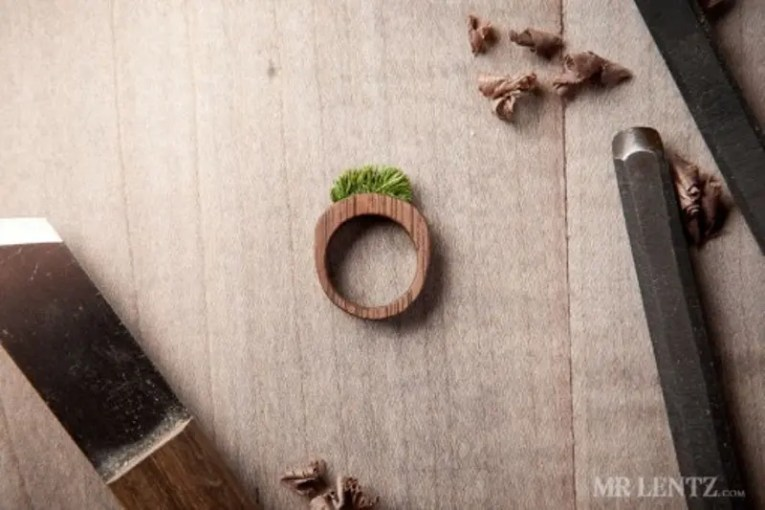 Picture Of Cute And Eco Friendly Wood Wedding Rings From Mr Lentz Shop