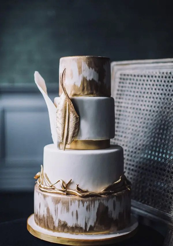 Picture Of Delicious And Beautiful Boho Chic Wedding Cake 17
