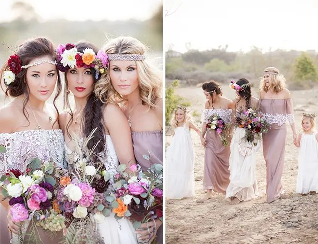 Picture Of Relaxed Boho Chic Beach Wedding Ideas 25