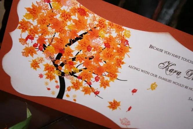 Fall Wedding Invitation With A
