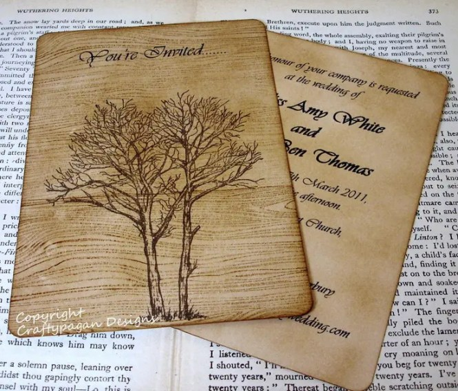 Stylish And Eco Friendly These Fancy Vintage Seed Paper Wedding Invitations Are Available In