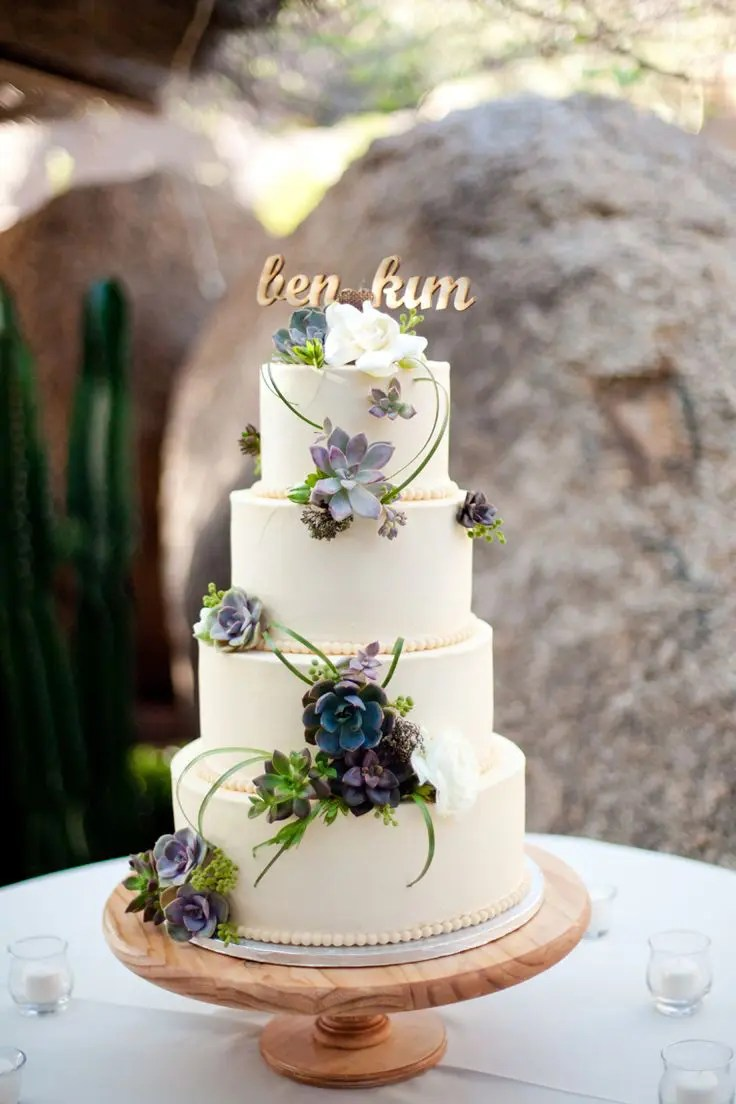 Picture Of succulent wedding cakes 3