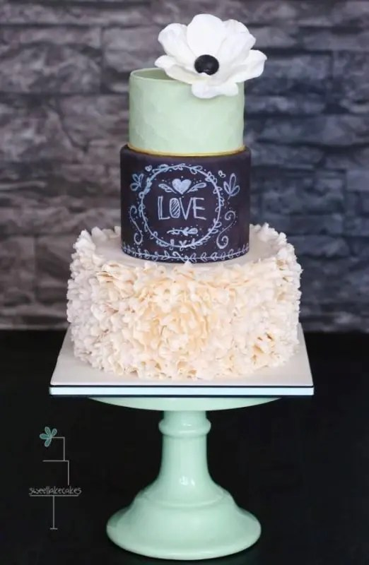 Picture Of the hottest 2015 wedding trend 30 chalkboard wedding cakes 5