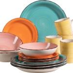 Maser Geschirr Set Steingut Lumaca 16 Farbe Blau Rosa Gelb Orange Weltbild De