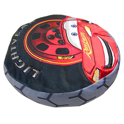 disney pixar cars lightning mcqueen lightyear tire shaped decorative pillow