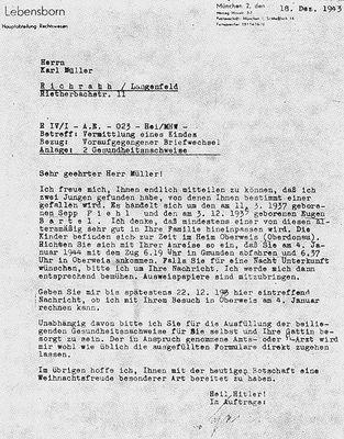 pismo Lebensbornu