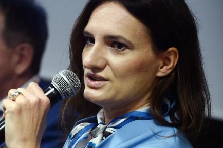 Monika Morawiecka podczas Kongresu 590 w listopadzie 2018 r.