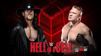 The Undertaker vs. Brock Lesnar in a Hell i a Cell Match at WWE Hell in a Cell