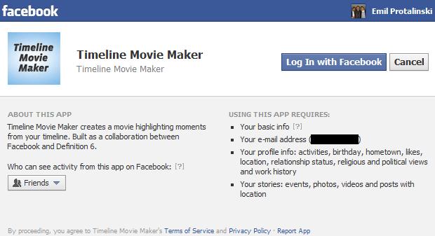 Facebook Timeline Movie Maker