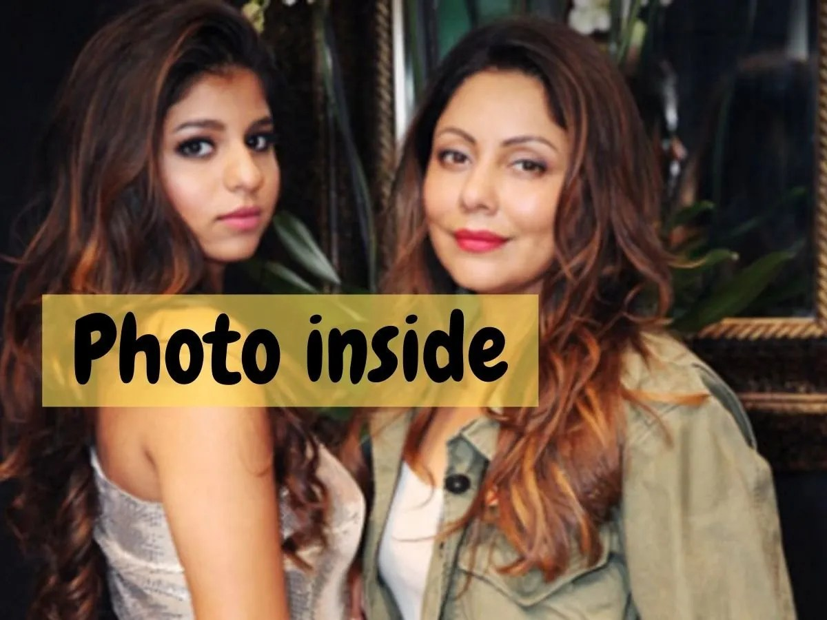 Suhana Khan Childhood Photo Suhana Khan Looks Unrecognisable With Mother Gauri Khan And Ananya Panday In This Iconic Throwback Photo