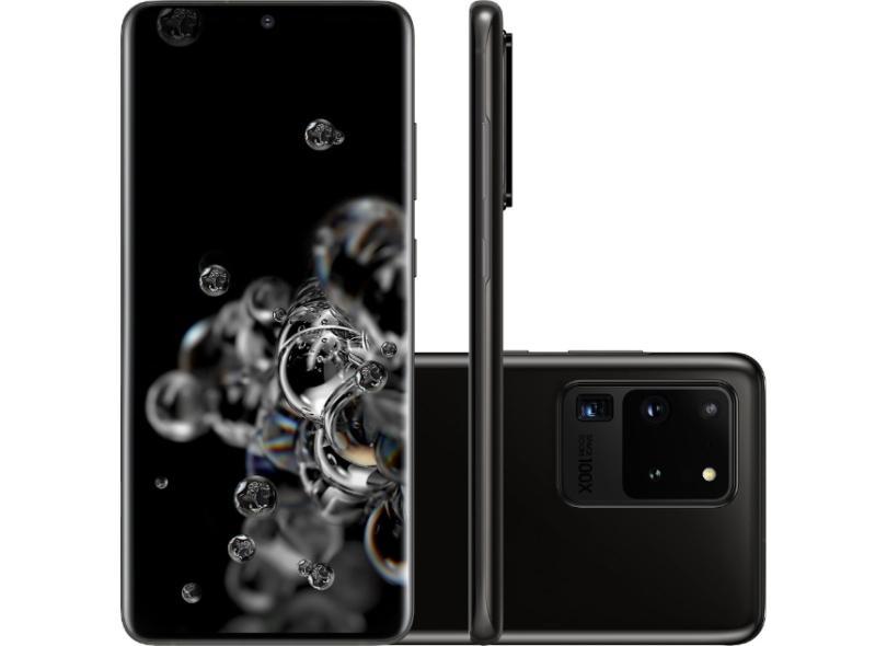 Smartphone Samsung Galaxy S20 Ultra SM-G988B 128GB 2 Chips Câmera Quádrupla 12 GB Economize Com Bondfaro