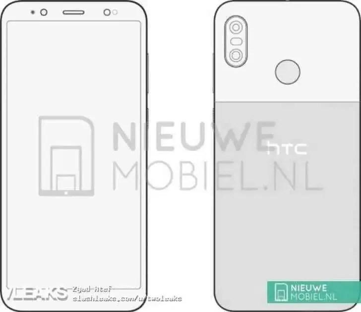 HTC U12 Life revelado em imagem mostra câmara dupla, sensor de impressão digital na traseira image