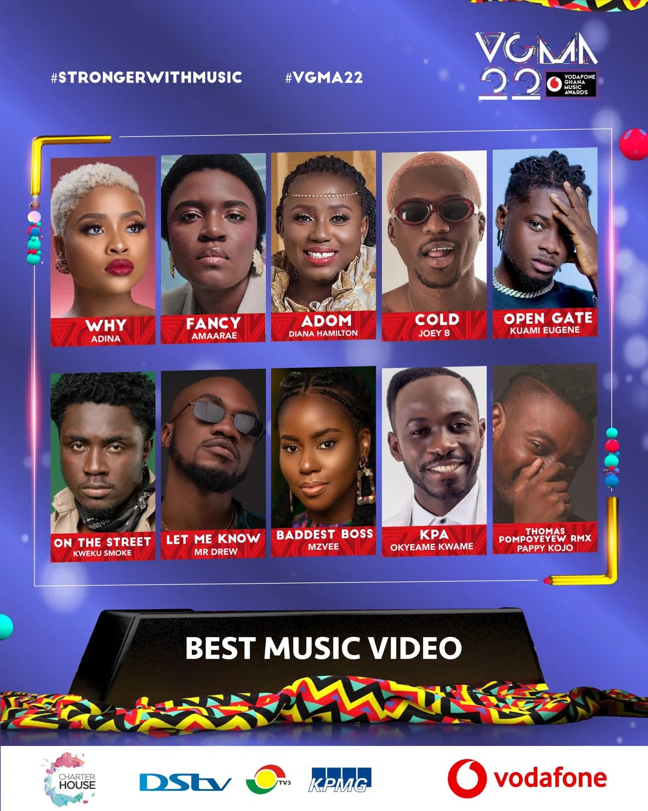 20210403 131327 Chartered House Has Released The Nominees List Of The 22nd Edition Of VGMA Awards