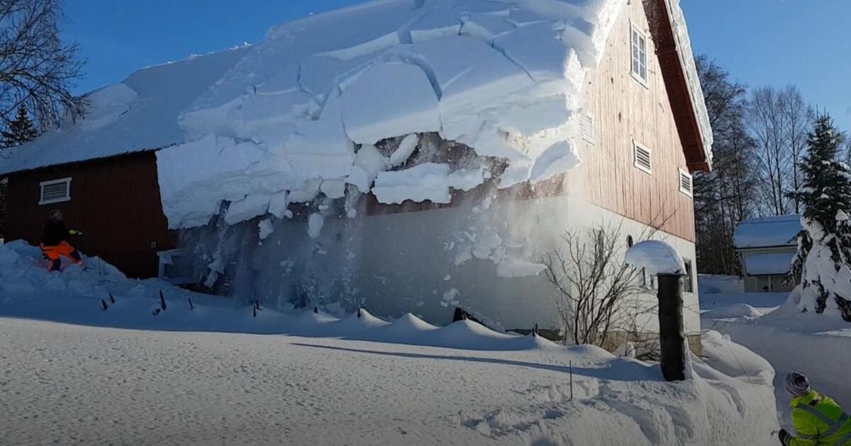 So Holt Man In Norwegen Den Schnee Vom Dach Gmx Ch