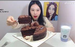 [韩国吃播][弗兰西斯卡]巧克力蛋糕