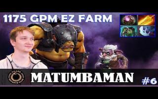 MATUMBAMAN - Alchemist MID | 1175 GPM EZ FARM | Dota 2 Pro MMR Gameplay #6