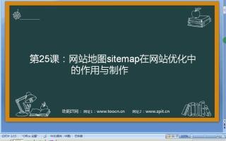 seo教程   第25课-网站地图sitemap在网站优化中的作用