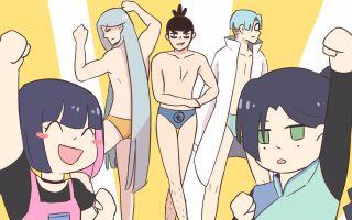 【刺客伍六七】【手书】男人们的狂欢节——内裤秀!