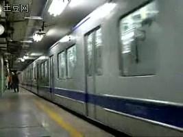 【搬运】北京环线地铁(二号线)老车DK16型车太平湖车场124号车进站