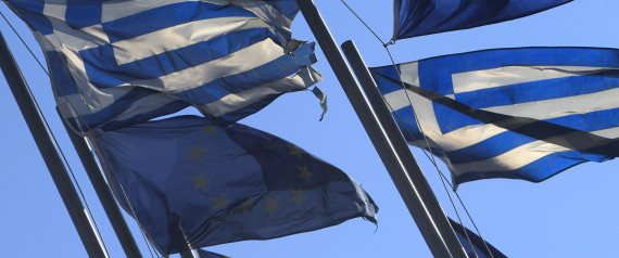 GREEK FLAG EU FLAG