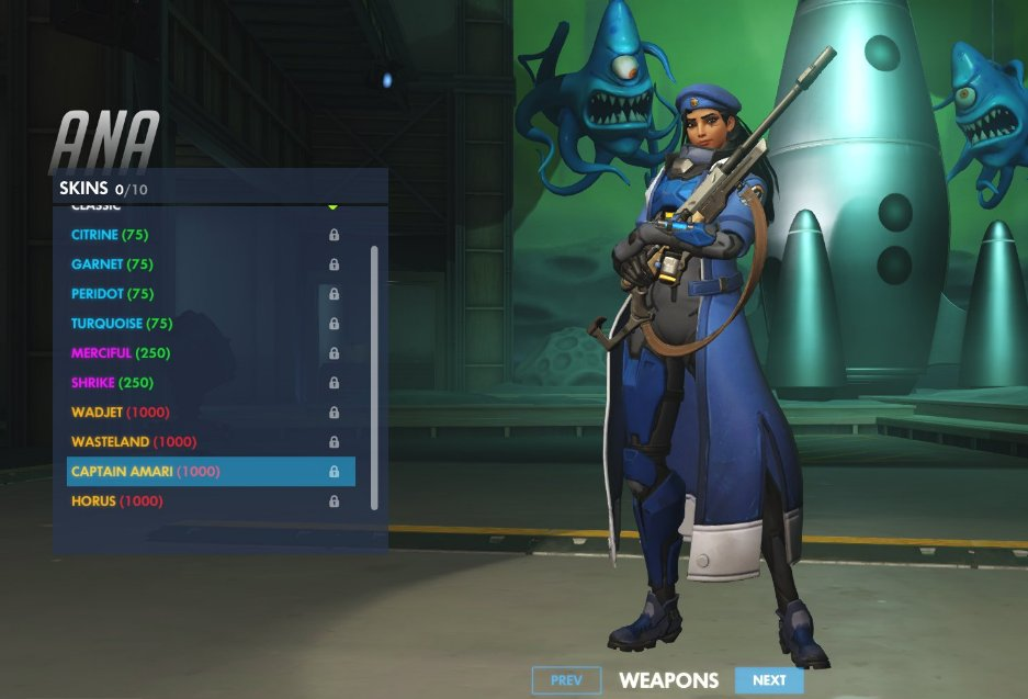 Ana Legendary Skin Captain Amari Overwatch Know Your Meme