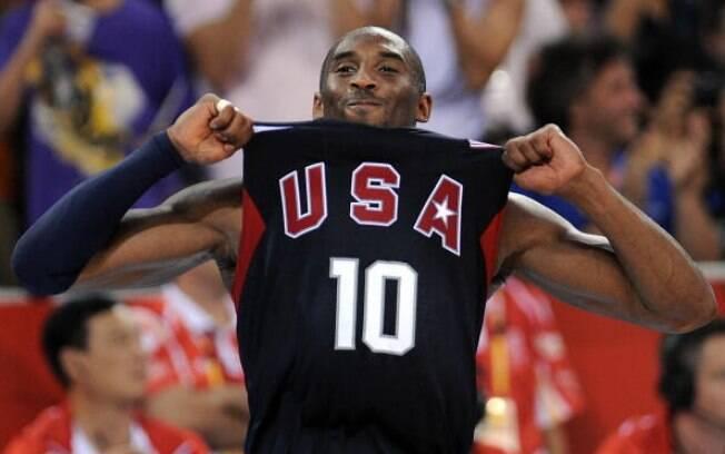 Kobe Bryant ajudou a seleção dos Estados Unidos na conquista de duas medalhas de ouro. Em Pequim-2008 e Londres-2012