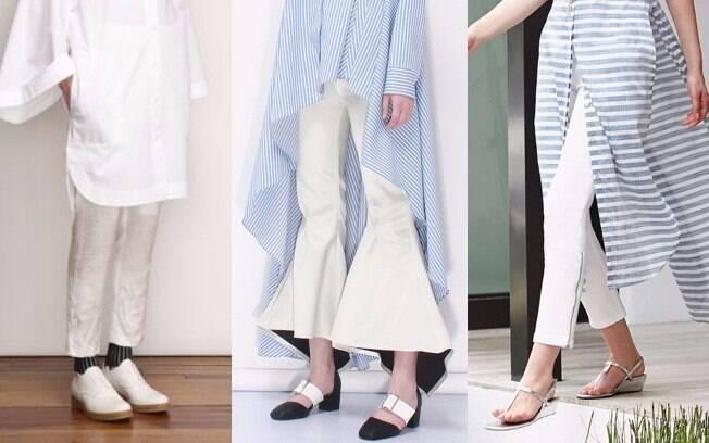 Se você opta por mais conforto e usa sapatos baixos%2C opte por calças de comprimento mais curto