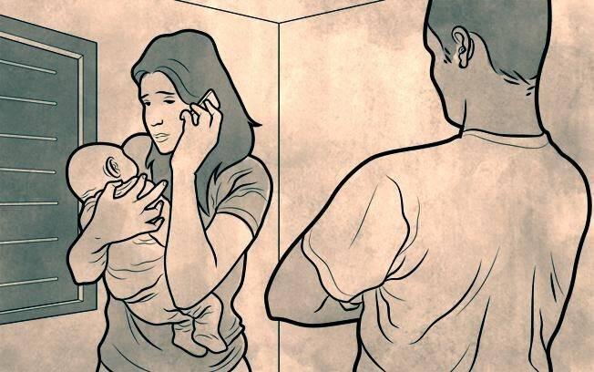 Eliza é colocada com o filho em um quarto. Ela não fica trancada, mas é vigiada. Também é obrigada a ligar para uma amiga e dizer que estava bem. Foto: Arte/iG