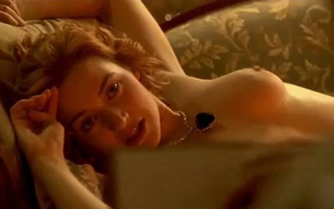 Kate Winslet - A atriz não tem nenhum problema em ficar nua em frente às câmeras e já apareceu 'ao natural' em diversos filmes, começando pela   clássica cena de 'Titanic'. Foto: Reprodução