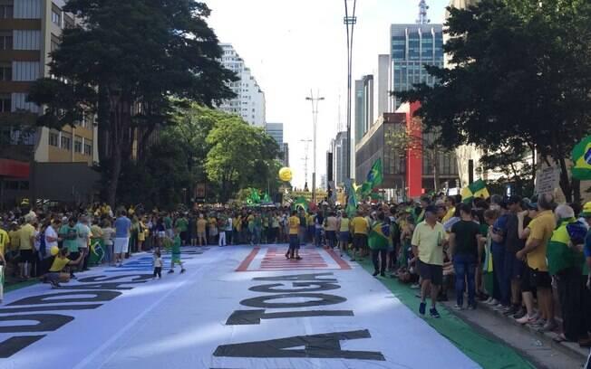 Manifestantes de concentram na região do Masp