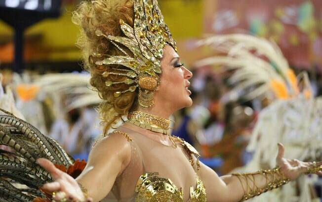 Claudia Raia no desfile da Beija-Flor. Foto: Gabriel Santos/ Riotur