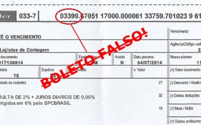 Uma das fraudes mais comuns é o código do banco não vir correto no boleto