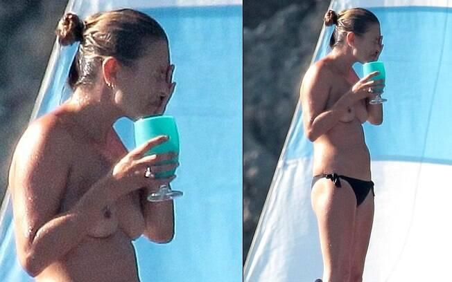 Kate Moss disse em entrevista que teve dificuldade em tirar a roupa em público apenas uma vez: a primeira. Foto: Reprodução