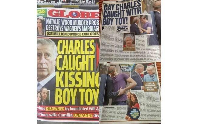 Príncipe Charles é gay e foi flagrado com homem mais jovem, diz revista dos EUA