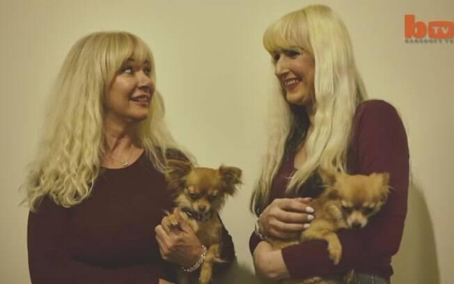 Janet, de 57 anos, e sua filha Jane, de 36