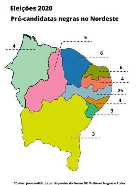 Pré-candidatas negras do nordeste (eleições 2020)