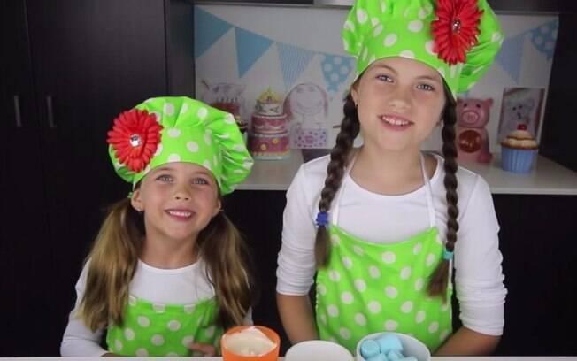 As irmãs apresentam o CharlisCraftyKitchen no Youtube e se inspiram em personagens infantis