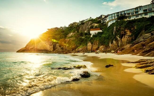 Praia de Joatinga no pôr do sol