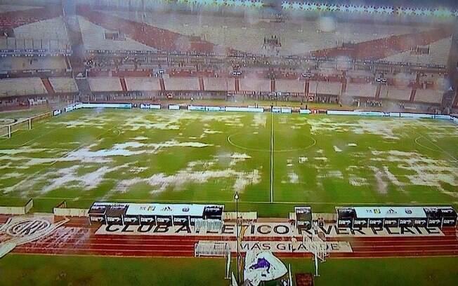 Estádio Monumental de Núñez antes de Brasil x Argentina pelas Eliminatórias para a Copa do Mundo de 2018