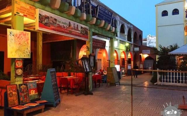 Restaurante dentro da Medina de Essaouira