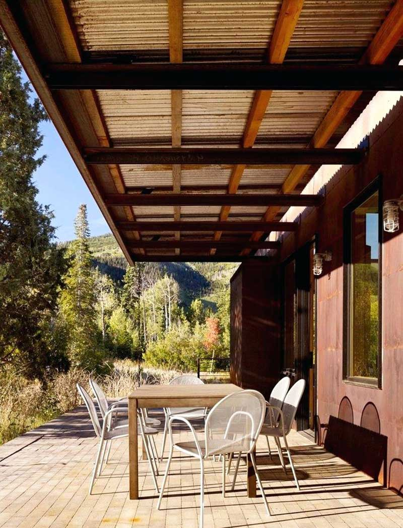 how to attach a patio roof to an