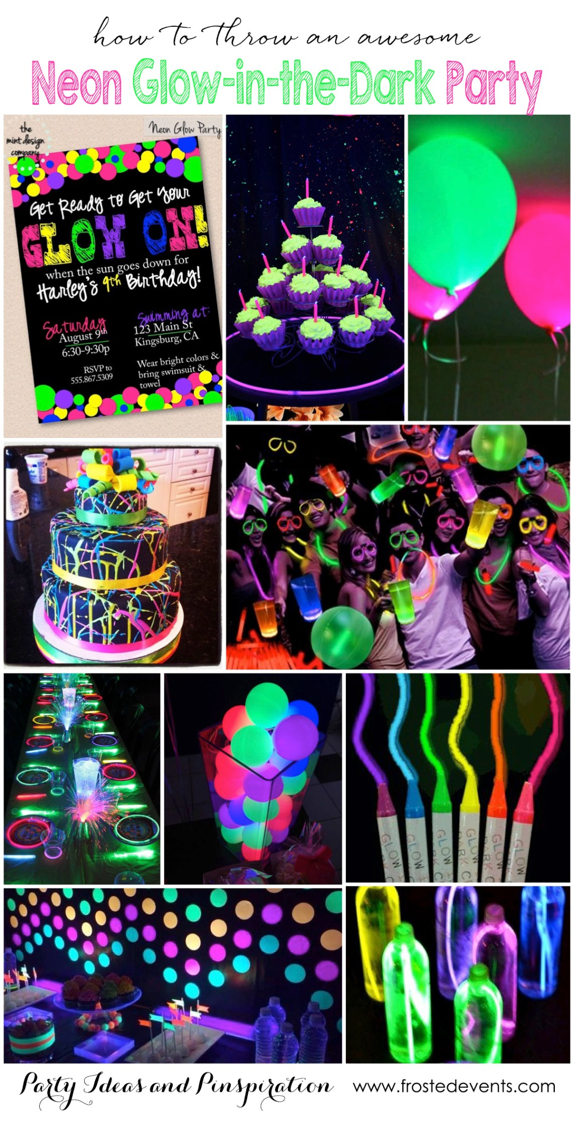 Party Themes Neon Party Fun Glow In The Dark Party Ideas