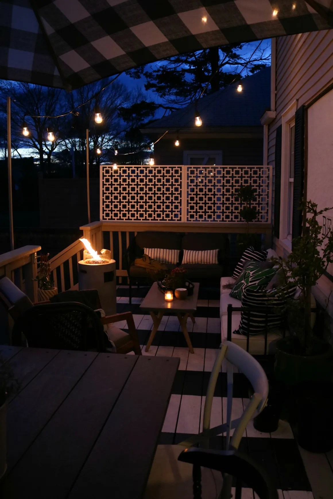how we hung our deck string lights