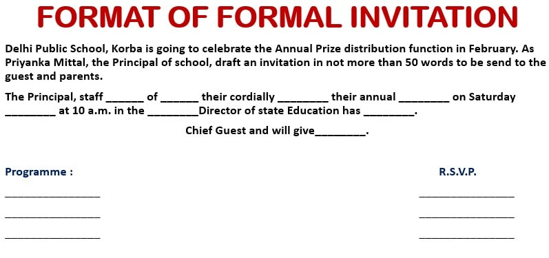 formal and informal invitations and