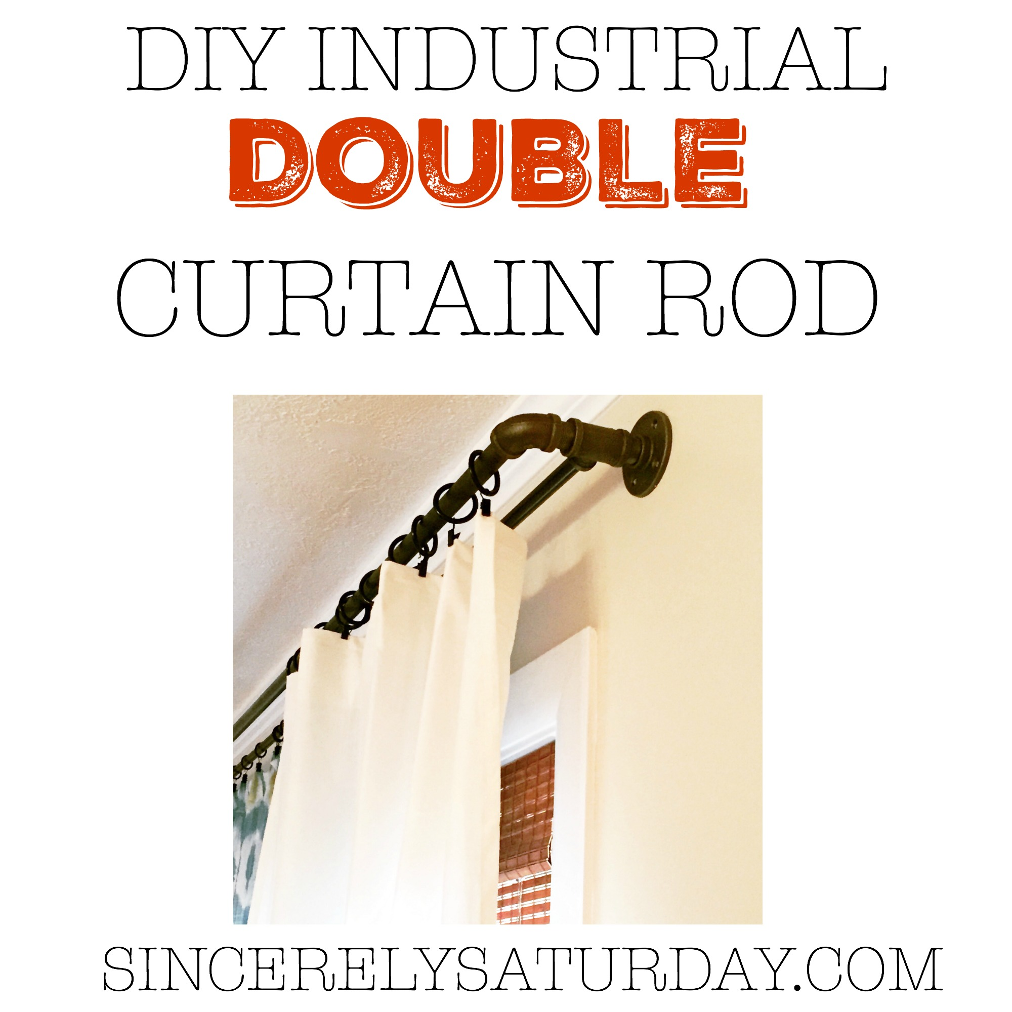 30 inches industrial pipe curtain rod