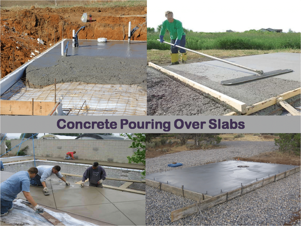 how to pour concrete over existing