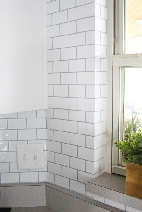 using self adhesive wall tile for our