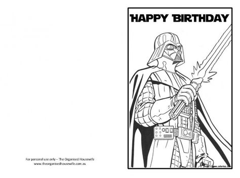 20 Star Wars Birthday Card Printable Graphic Design Candacefaber