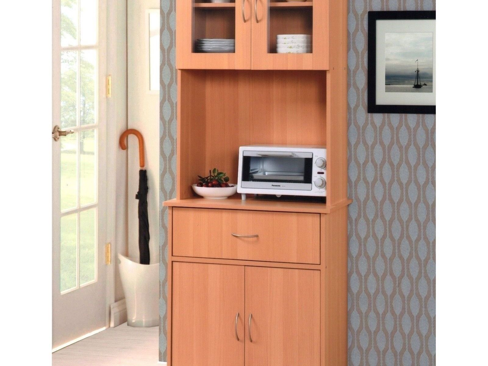 new tall kitchen microwave stand beech
