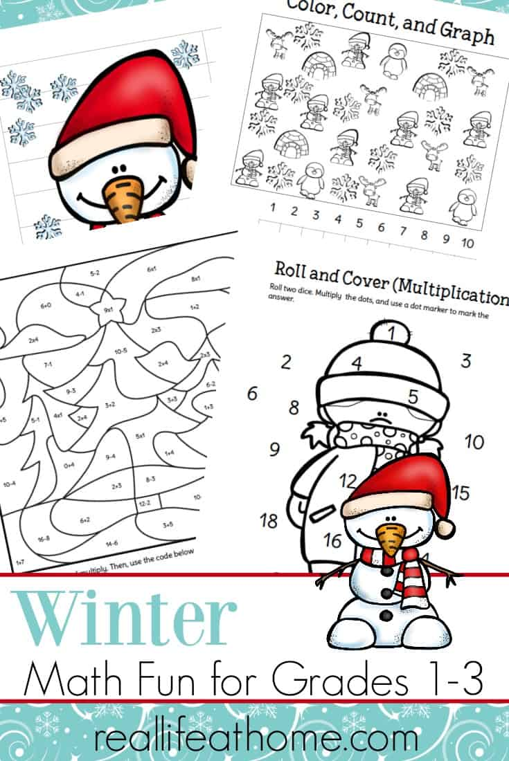 Fun Printable Packet Of Winter Math Worksheets For 1st 3rd